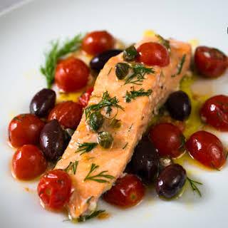 Mediterranean Style Oven Baked Salmon – Easy.