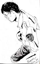 Photo: 省話酷哥2011.06.30鋼筆 監獄裡的同仁不乏臥虎藏龍者,許多同仁對酷哥的印象是一整年講不到兩句話,但夠熟的人才知道,他可是個深藏不露滿腹古書的台灣俚語大師。