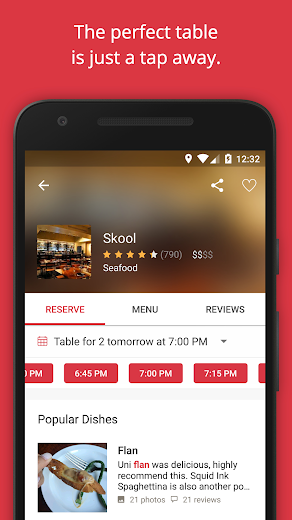Screenshot 1 for OpenTable's Android app'