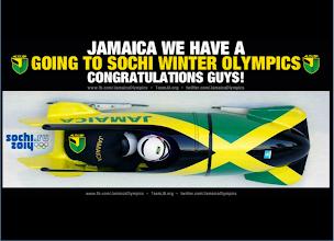 Photo: El equipo jamaicano de bobsleigh en Sochi!