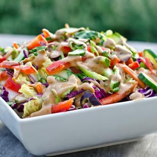 Thai Crunch Salad with Peanut Dressing.