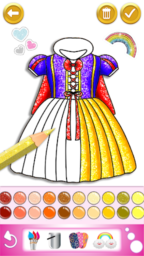 Glitter dress coloring and drawing book for Kids screenshot 5