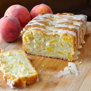 Peach Cake with Vanilla Glaze