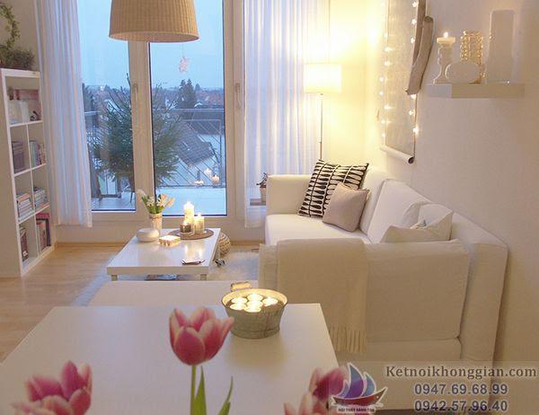 thiết kế nội thất căn hộ bé