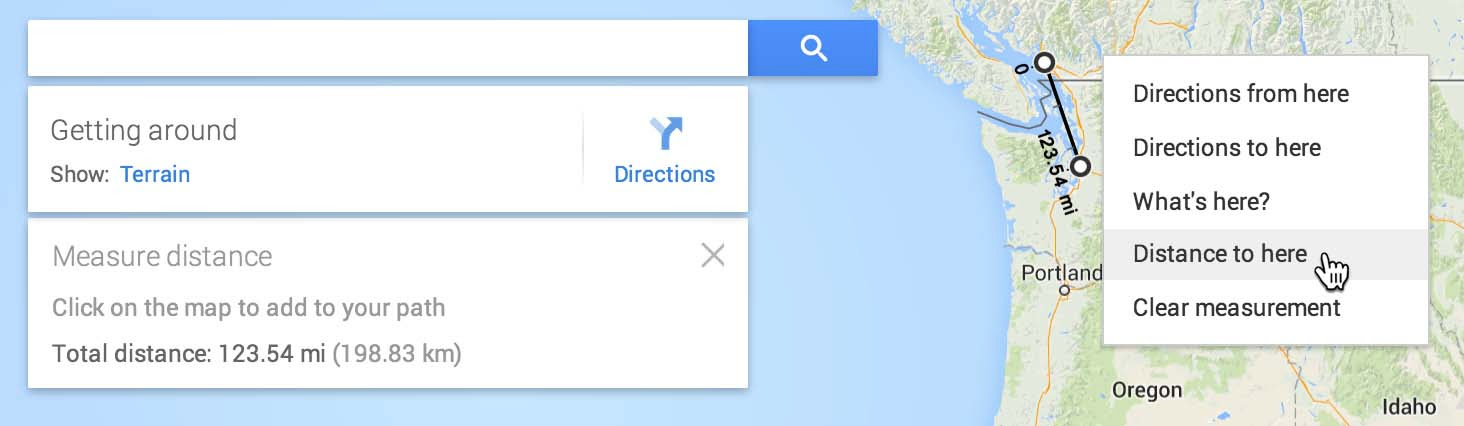 Measure distance in the new Google Maps! - Google Product Forums