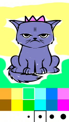 Cat Paint Coloring Page Game