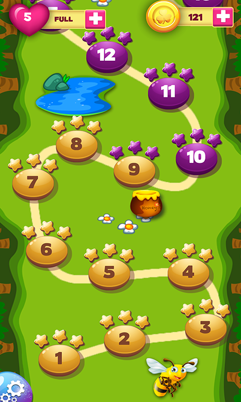 Honey Bear Bubble Blaster- screenshot
