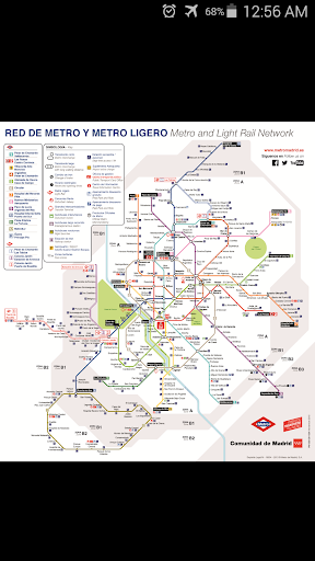 Madrid Metro Rail Map