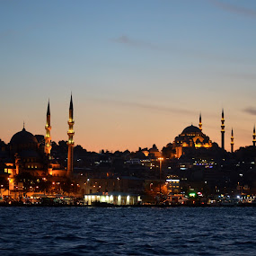 ISTANBUL AT NIGHT by Molnar Csilla - Buildings & Architecture Public & Historical ( night photography, city lights, night, istanbul, city,  )