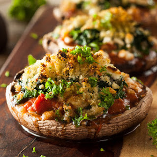 Cheesy Stuffed Portobello Mushrooms.