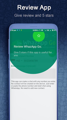 WhazappGo - Direct Chat & Video Status Saver 3.5 screenshots 7