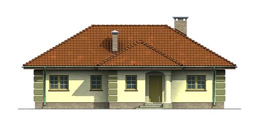 Dom przy Orzechowej - Elewacja przednia