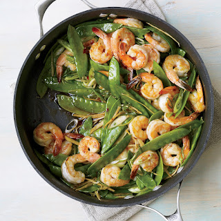 Gingered Stir-Fry with Shrimp and Snow Peas.