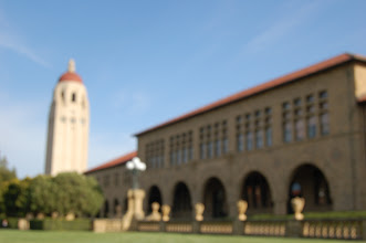 """Photo: Requirement 3 (out of focus): Nothing is in focus in this photo, but it gives Stanford a warm (normal white balance to match the """"direct sunlight""""!), hazy, and dream-like feel."""