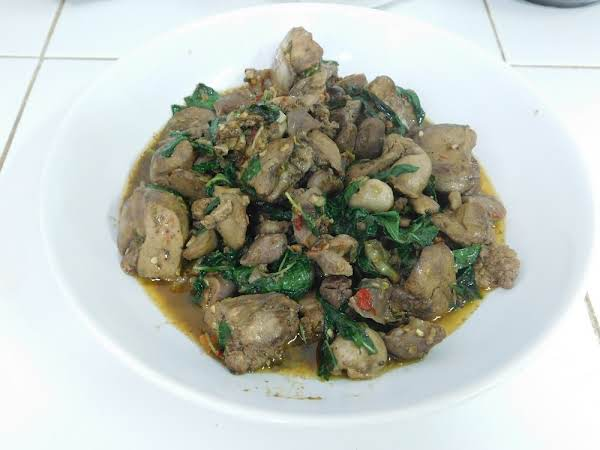 Chicken Giblets & Basil Recipe