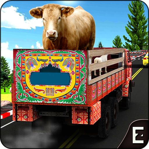 Farm Animal Transporter Truck Game: Offroad Drive