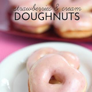 Strawberries and Cream Doughnuts.