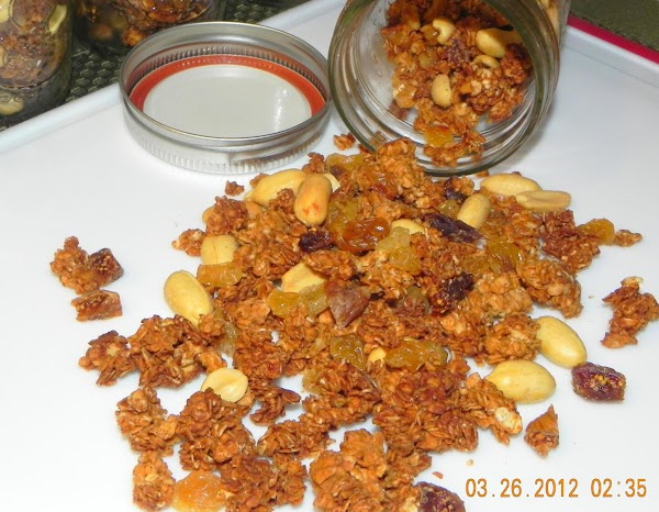 I'm posting my homemade granola recipe here in case you want to use it...