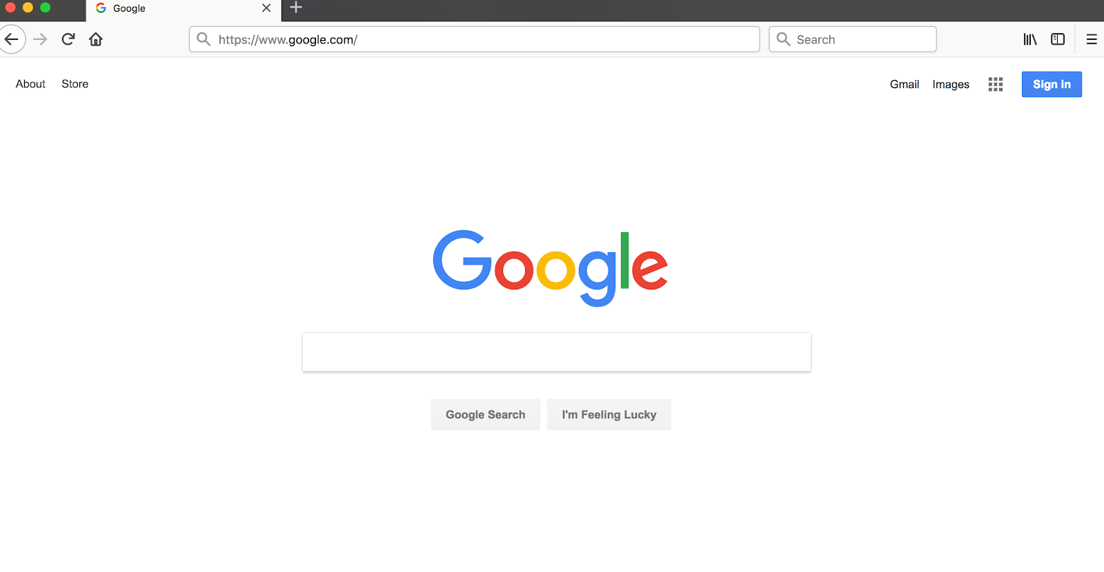 How to make Google the page
