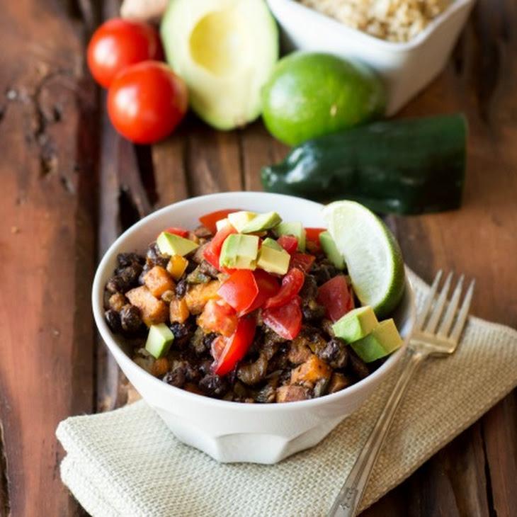 Mexican Black Beak and Brown Rice Bowl