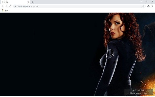 Black Widow New Tab & Wallpapers Collection