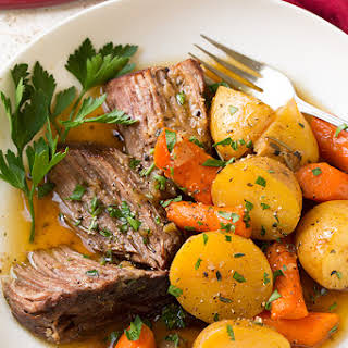 Oven Pot Roast Potatoes Onions Carrots Recipes.