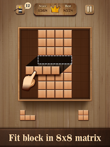 Fill Wooden Block 8x8: Wood Block Puzzle Classic 1.1 screenshots 7