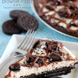 Oreo Fudge Brownie Pizza