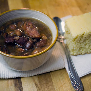 Crockpot Ham and Beans - A Southern comfort food staple.