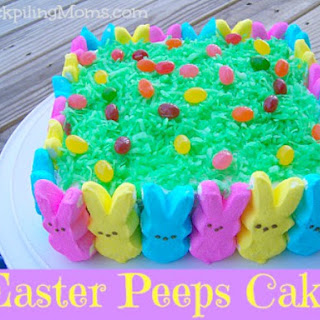Easter Peeps Cake.