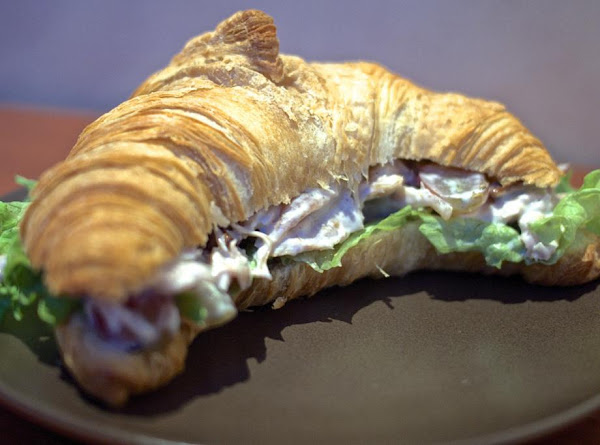 Chicken And Peach Salad Croissant Recipe