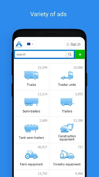 Autoline: trucks and special equipment for sale
