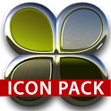 Lime silver glas icon pack 3D icon