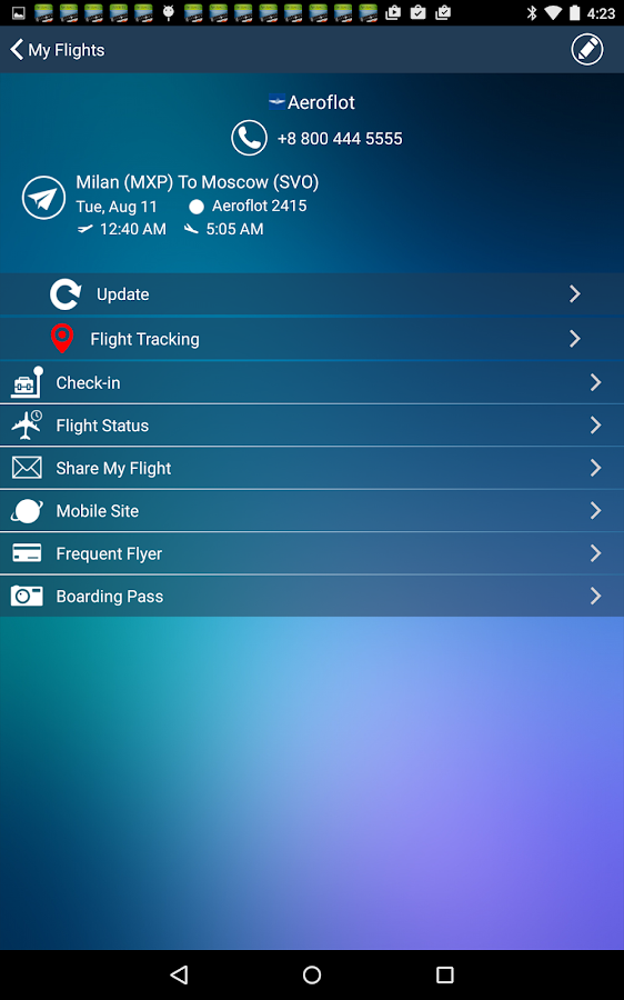 Milan Malpensa Airport MXP Flight Tracker- screenshot