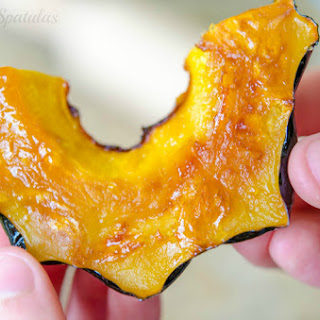 Maple Butter Roasted Acorn Squash.