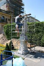 Photo: Warszawa, Wilanow, park i ogrod, prace konserwatorskie, 08/2006 fot. Robert Gutowski Palac