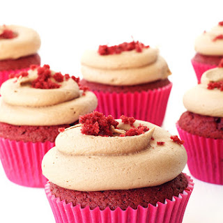 Red Velvet Cupcakes with Chocolate Frosting