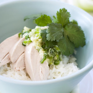 Poached Chicken with Ginger and Shallot Sauce