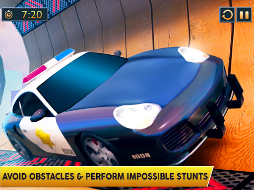 Ramp Police Car Stunts - New Car Racing Games screenshot 8
