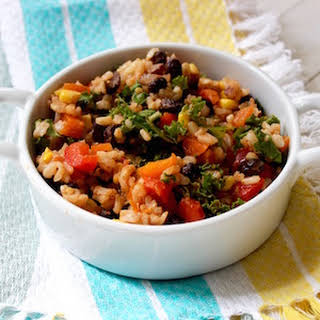 Brown Rice Salsa Salad.