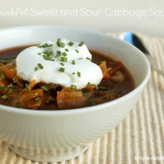 Crock Pot Sweet and Sour Cabbage Soup.
