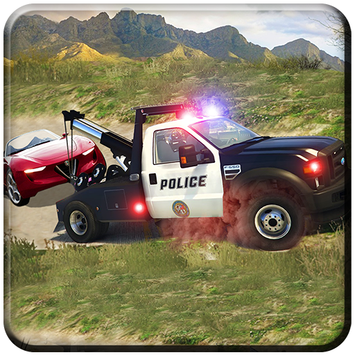 Offroad Police 4x4 Tow Truck Trailer Rescue