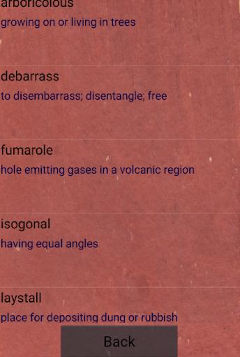 Quiz - unusual words  screenshots 2
