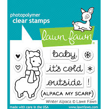 Lawn Fawn Clear Stamps 3X2 - Winter Alpaca