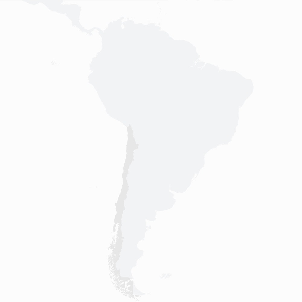 Map of South America marking the solar farm in Chile