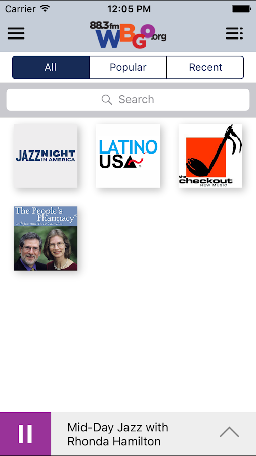 WBGO Public Radio App- screenshot