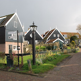 Home Sweet Home by Azzah Rahman - Buildings & Architecture Homes ( netherland, marken island, houses, amsterdam, volendam )