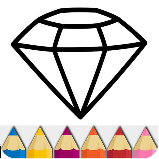 diamant malvorlage  kinder ausmalbilder