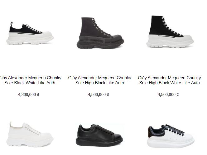 Kinh nghiệm lựa chọn những đơn vị bán giày thương hiệu Alexander Mcqueen