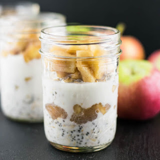 Caramel Apple Chia Overnight Oats